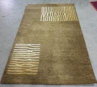 Modern brown ground rug