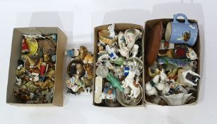 Quantity of Wade porcelain miniatures, crested china and other decorative ceramics (3 boxes)