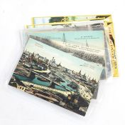 Two boxes of assorted mixed postcards, various subjects, one case of assorted postcards, various