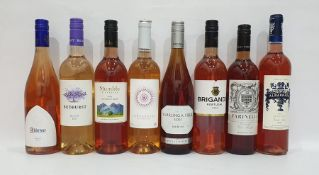 Eight bottles of assorted rose wine to include Stumble Vineyards 2016 and Albarrada Portuguese