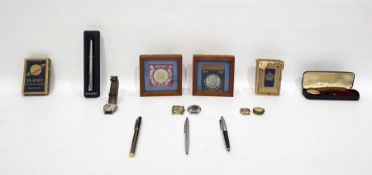 Assorted itemsto include playing cards, commemorative coins, pens, watches, etc