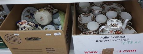 Part-dinner service by Colclough and other ceramics to include two Masons 'Mandalay' pattern jugs