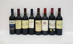 Eight bottles of mixed red wineto include Chateau Chatagnau 2010 Bordeaux and Casa Elena Merlot