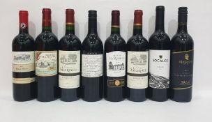Eight bottles of mixed red wineto include Saint-Felix de Castelmaure 2016 Corbieres and Block 61