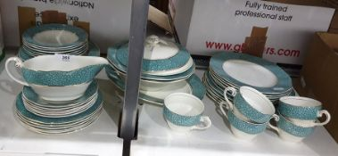 Part-dinner service by Wedgwood & Co Ltd, 'Garden' pattern including meat plate, cups, saucers and