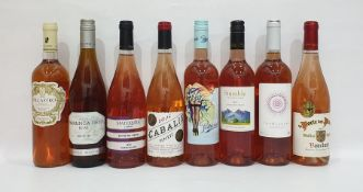 Eight bottles of assorted rose wine to include Yarrunga Field Rose bin no.701 New South Wales and