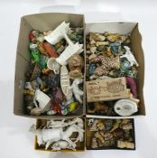 Assorted lot of Wade Whimsies and Whimsie style figures, miniature models of animals, Goss china,