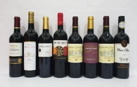 Eight bottles of mixed red wine to include Casa Silva Merlot 2014 and Conde De Cron Vino Tinto (8)