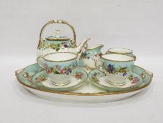 Grainger & Co Worcester porcelain early morning tea servicefor two persons, six pieces, viz:-