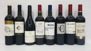 Eight bottles of mixed red wineto include Chateau de Panery Cote De Rhone 2014 and Cofrade 2014