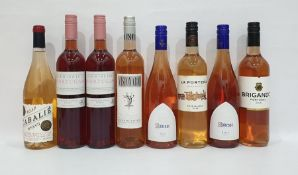 Eight bottles of assorted rose wine to include 2017 Cabalie Rose and La Portena Rose Malbec