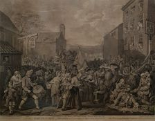 "After William Hogarth Engraving, Dec 1750 ""A Representation of the March of the Guards towards"