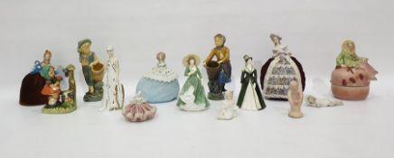 Quantity of pincushion half-dolls and decorative ceramics