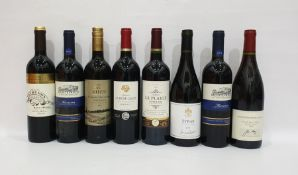 Eight bottles of mixed red wineto include Chateau Peyredon Lagravette 2009 and Chateau la Plaige
