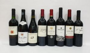 Eight bottles of mixed red wineto include Portuguese Socalco Douro 2014 and Olivier Ravoire Cote de