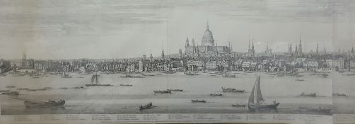 Large print set on board London, the drawing taken from the West Part of the Heads of St Mary