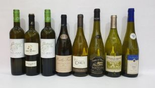 Eight bottles of assorted white wine to include Stellenrust Heritage Collection Bush vine Chenin