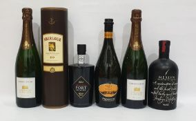 Mixed lot to include Aberlour 10 year old single Malt Scotch, Merlyn Welsh Cream Liquer, three