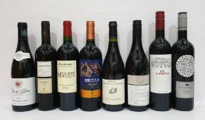 Eight bottles of mixed red wine to include hand-selected Clean Skin Fine Wine of Australia Shiraz