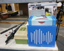 Mixed lot containing bluetooth speaker, Black & Decker steam paint wallpaper stripper and