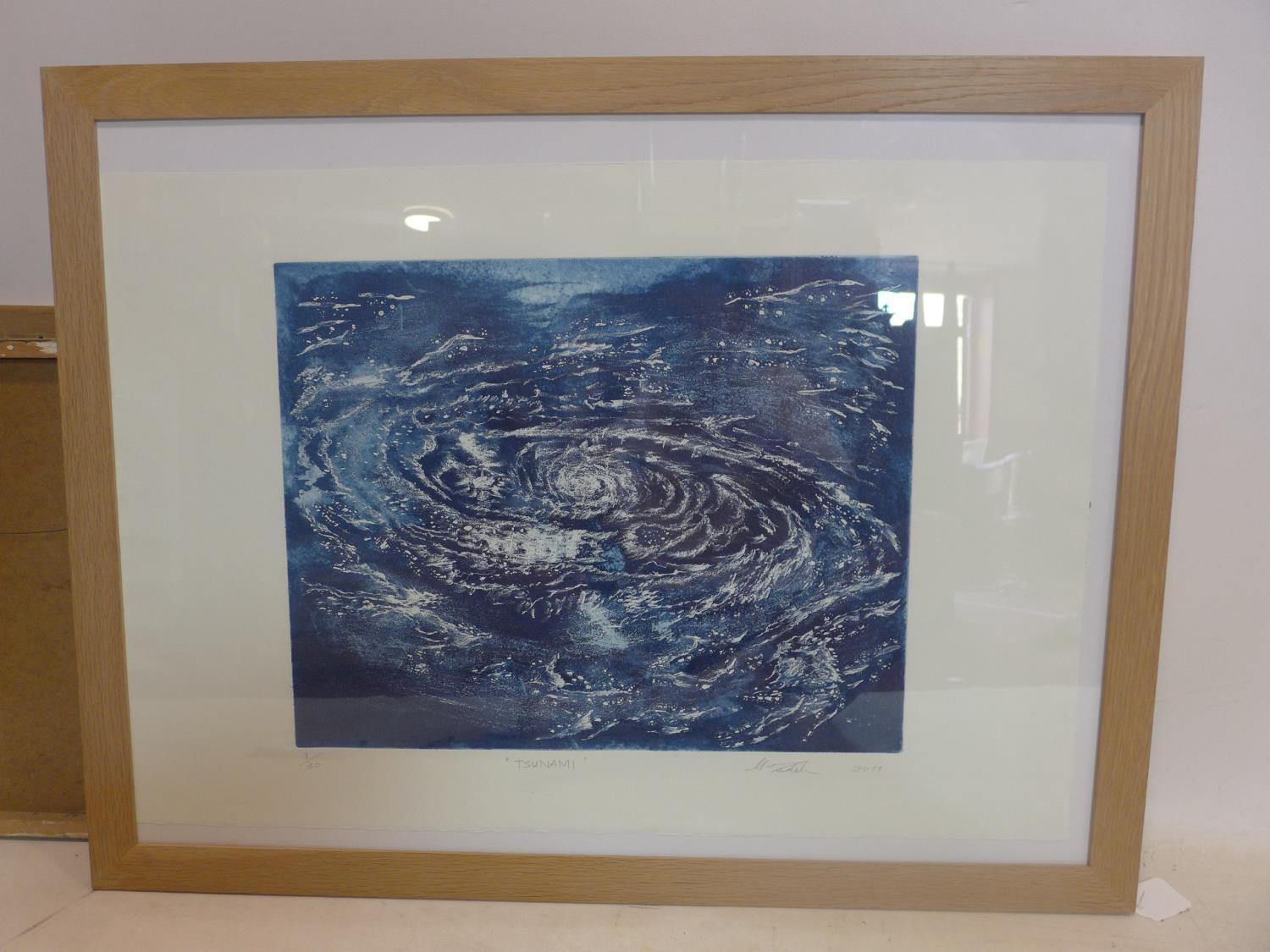 Lot 705 - Misao Tsukida (1953-2012), 'Tsunami', etching and aquatint, signed and dated 2011 in pencil to lower