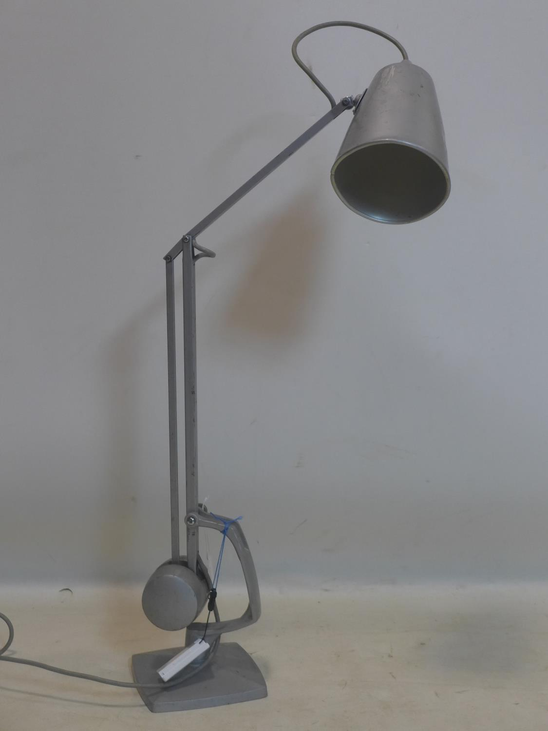 Lot 718 - A Hadrill & Horstman style vintage counter weight anglepoise lamp