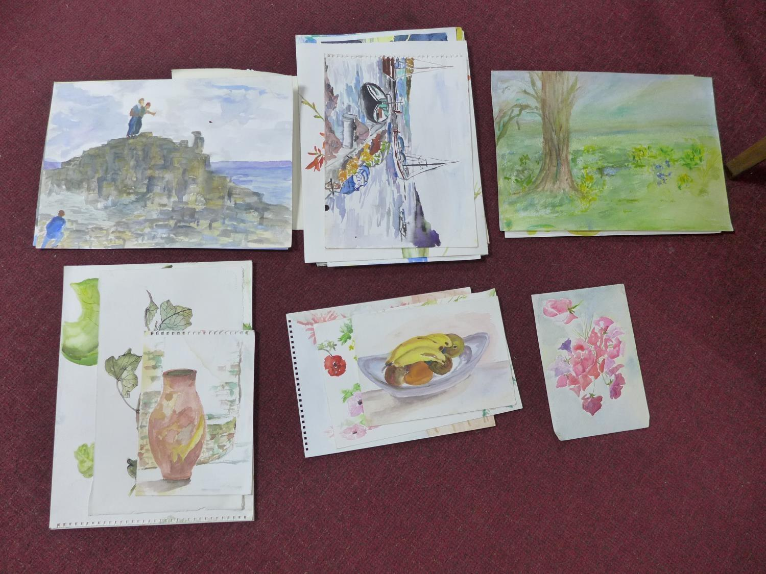 Lot 310 - Patricia Wright (British, 1919 - 2019), Twenty four watercolours of various subjects, some signed