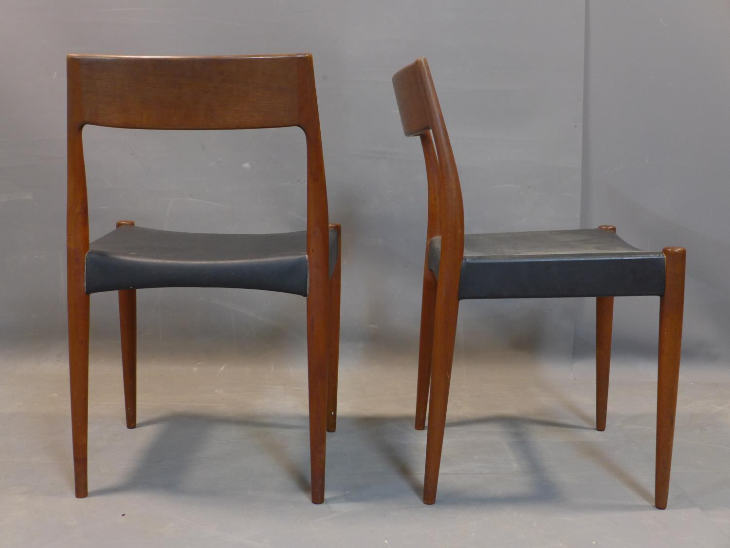 Lot 288 - A set of six mid 20th century Danish teak chairs by Mogens Kold (MK), c.1960, possibly designed by
