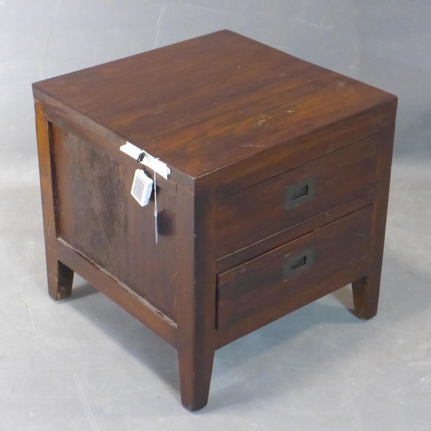 Lot 285 - A Lombok chest of drawers, Indonesian teak wood, H.50, W.50, D.50 cm