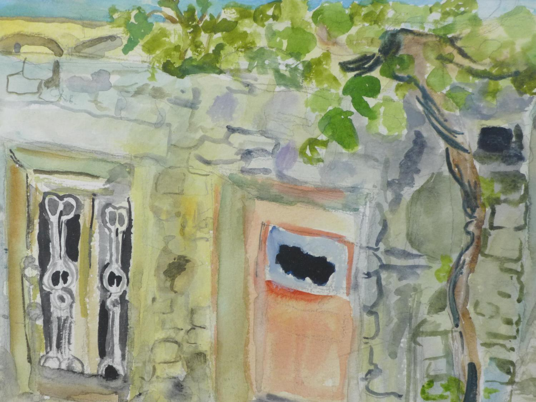 Lot 308 - Patricia Wright (British, 1919 - 2019), Greece summer, watercolour, signed 'I Patty', 38 x 30 cm