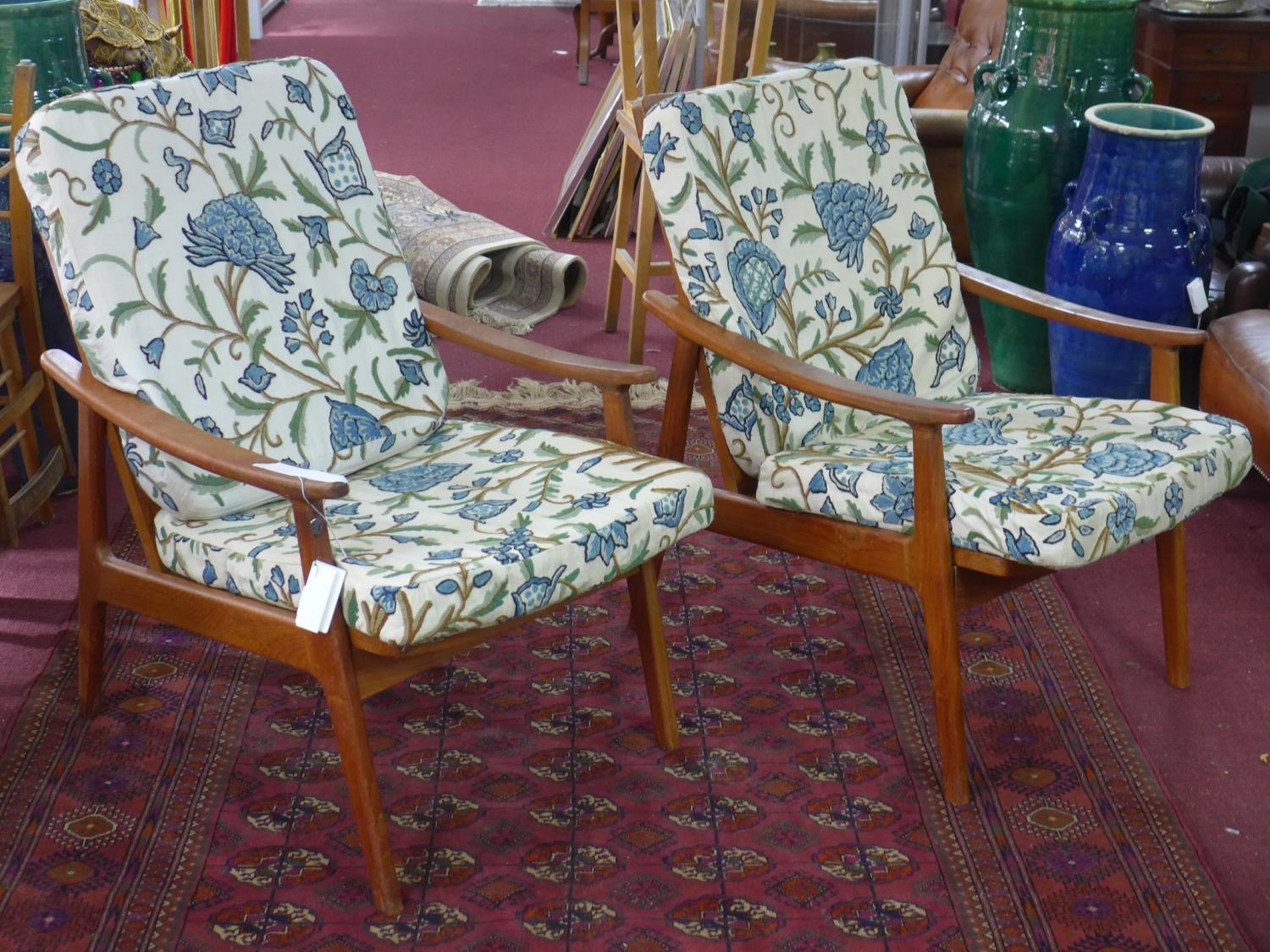 Lot 273 - Two Danish design lounge chairs, 1960's