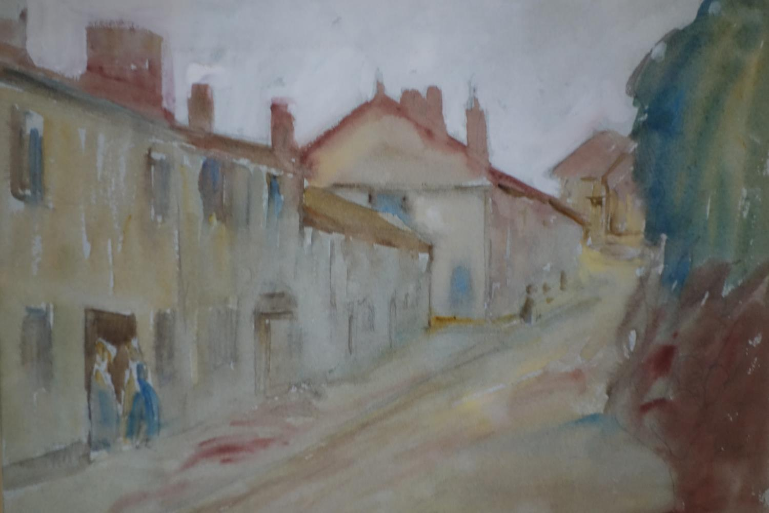 Lot 693 - Marcus Arthur Boss (1891-1981), 'A Country Lane', watercolour, monogrammed and dated 1923 to lower
