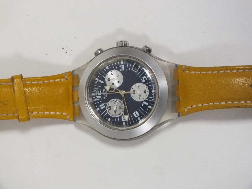 Lot 386 - A SWATCH IRONY DIAPHANE WRIST WATCH