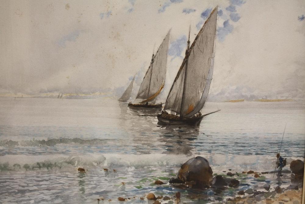 Lot 47 - BALDOMERO GALOFREY GIMENEZ (1849-1902). Spanish school, pair of Neapolitan coastal scenes with