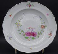"""Teller """"Meissen"""" indianische Blumen,, 19.Jhd, Schwertermarke mit Pun kt, 1.Wahl, D-24 cm"""