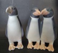 1x zwei, 1x einzelner Pinguin, Royal Copenhagen, H-9,5 cm