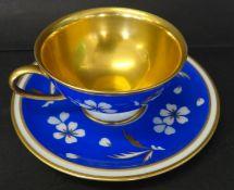 "Mokkatasse mit U.T. ""Rosenthal"" Winifred, blau/gold"