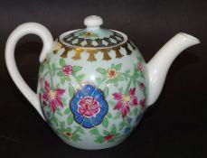kl. Teekanne mit floralen Dekor, Russland, H-11,5 cm