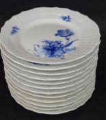 "12 Gebäckteller bzw. Beilagenteller ""Royal Copenhagen"" blaue Blume, D-15,5 c- - -22.61 % buyer's"