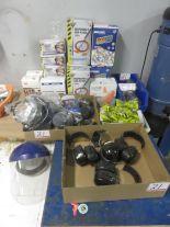 Lot 21 - LOT - EAR PLUGS, FACE MASKS, RESPIRATORS, SAFETY GLASSES, ETC.