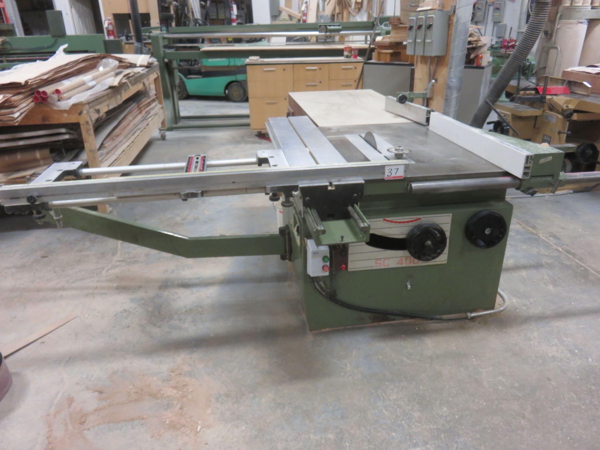 "Lot 37 - STETON MODEL SC400 14"" PANEL SAW W/ SLIDING TABLE C/W SCORING BLADE"