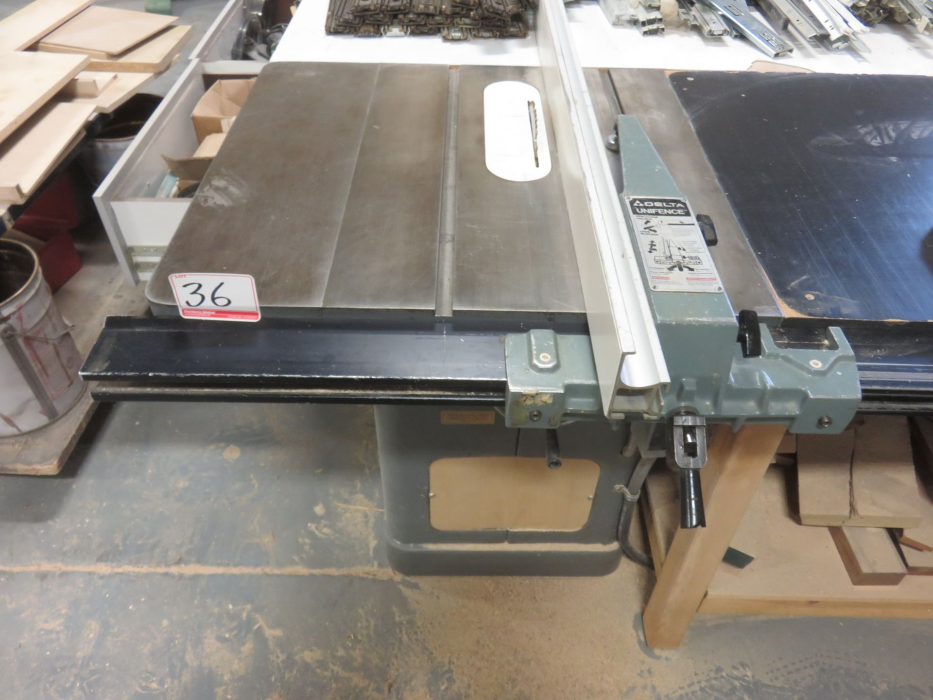 "Lot 36 - DELTA 34-462 550V 10"" TABLE SAW, S/N 207629"