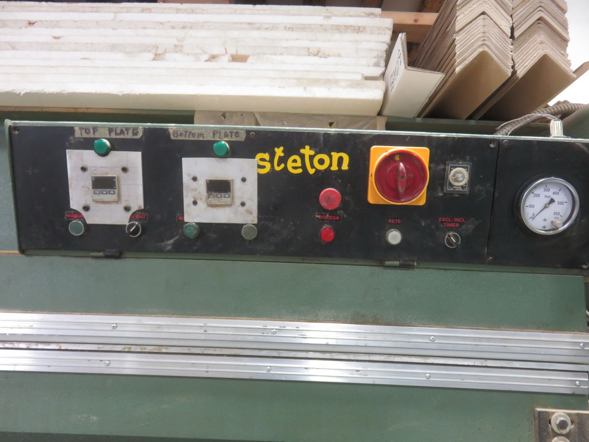 "Lot 46 - STETON MODEL P220 APPROX. 50"" X 10' 120-TON CAP HEATED VENEER PRESS, S/N 32216/001"