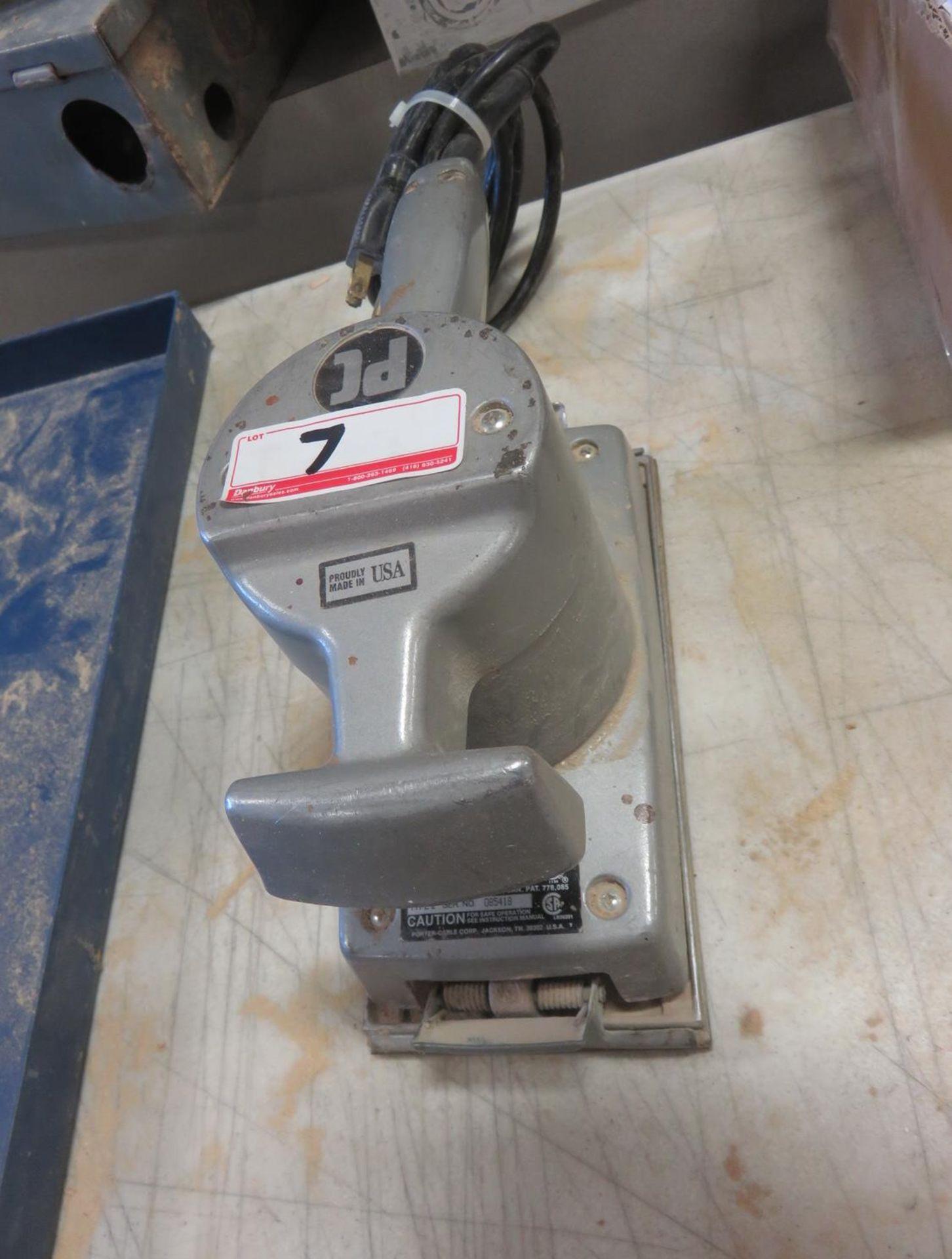 "Lot 7 - PORTER CABLE MOD 505 4"" X 8"" ELECTRIC SANDER"