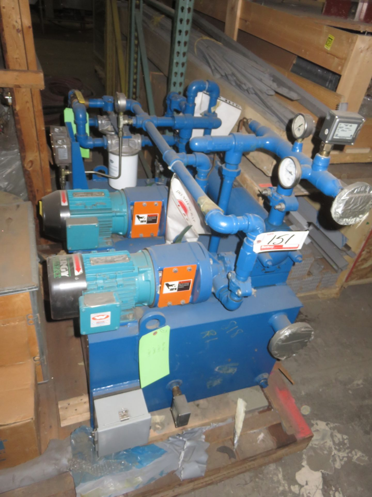 Lot 151 - UNIVERSAL DUAL 1.5HP PUMP HYDRAULIC POWER PACK