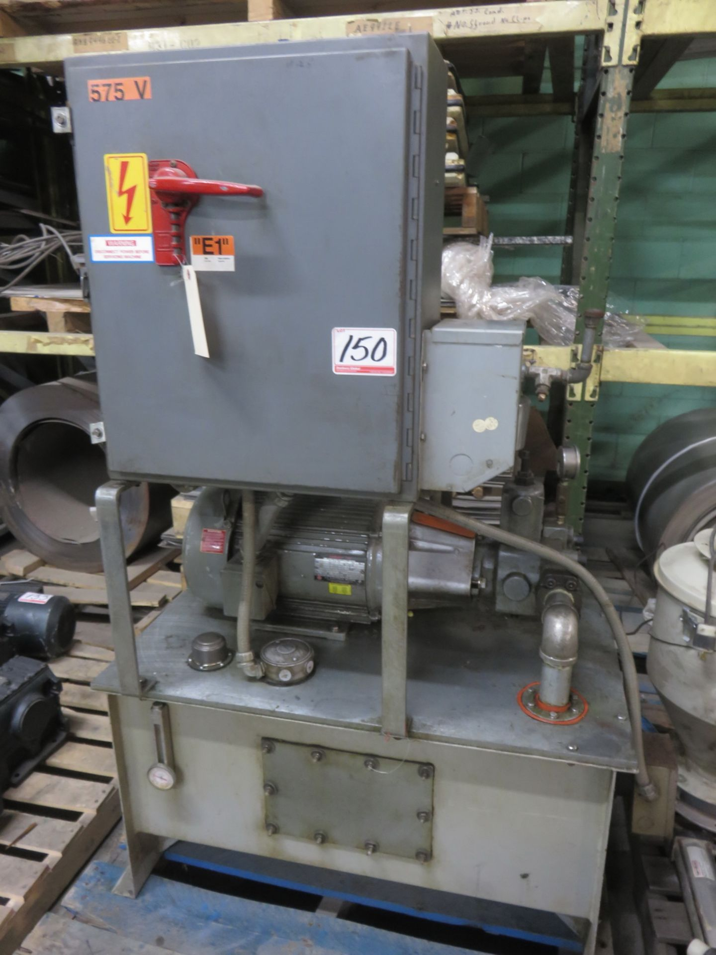 Lot 150 - US ELECTRIC 10HP HYDRAULIC POWER PACK