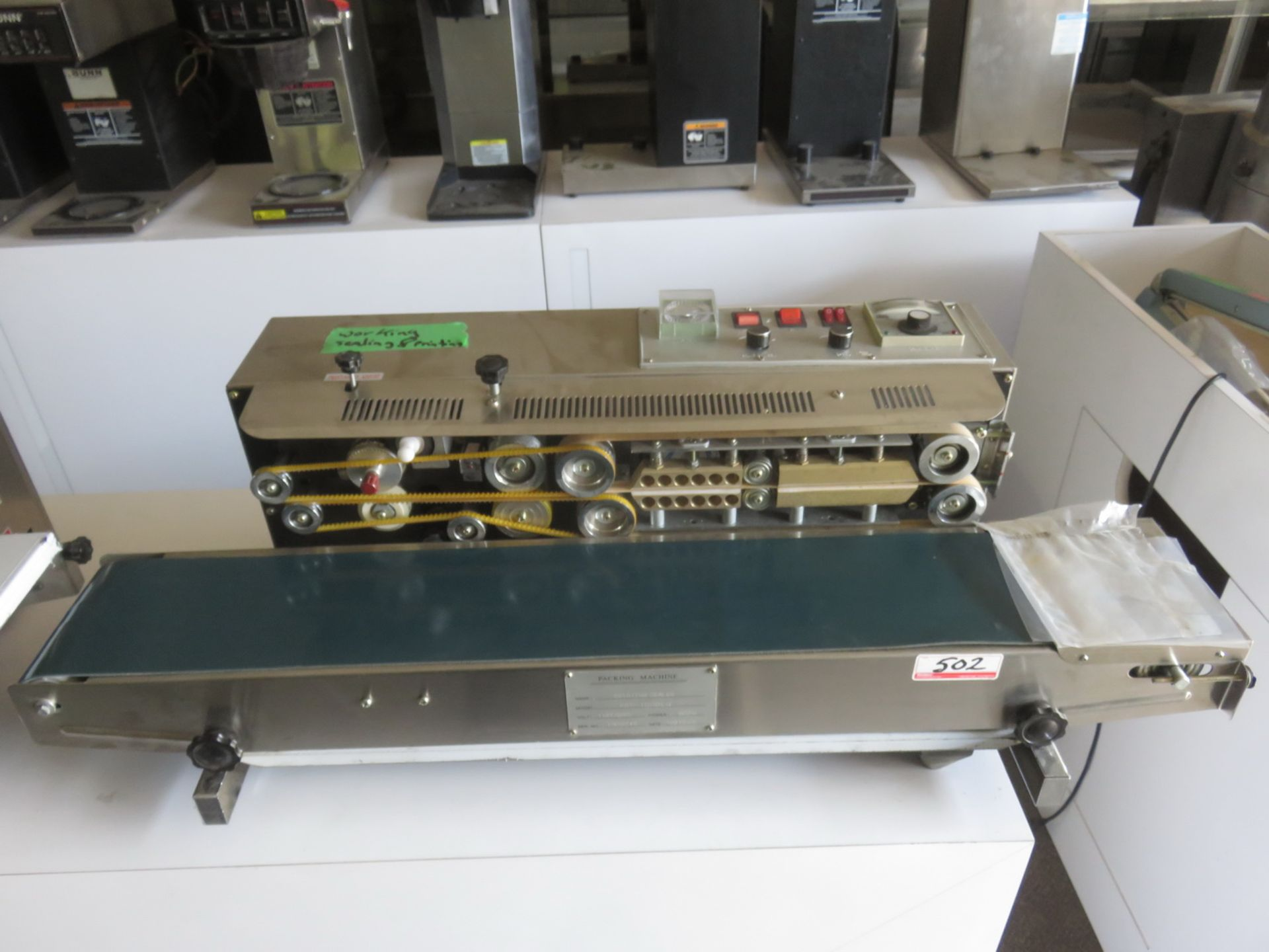 Lot 502 - 2013 SUNON MOD ERD-1000LW, 110V, 600W IMPULSE SEALER - S/N 1308042 (NEED POWER CABLE)