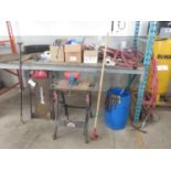 LOT - JOBMATE STAND W/ VISE CREEPER, AIR LINE + TRUCK PARTS ETC