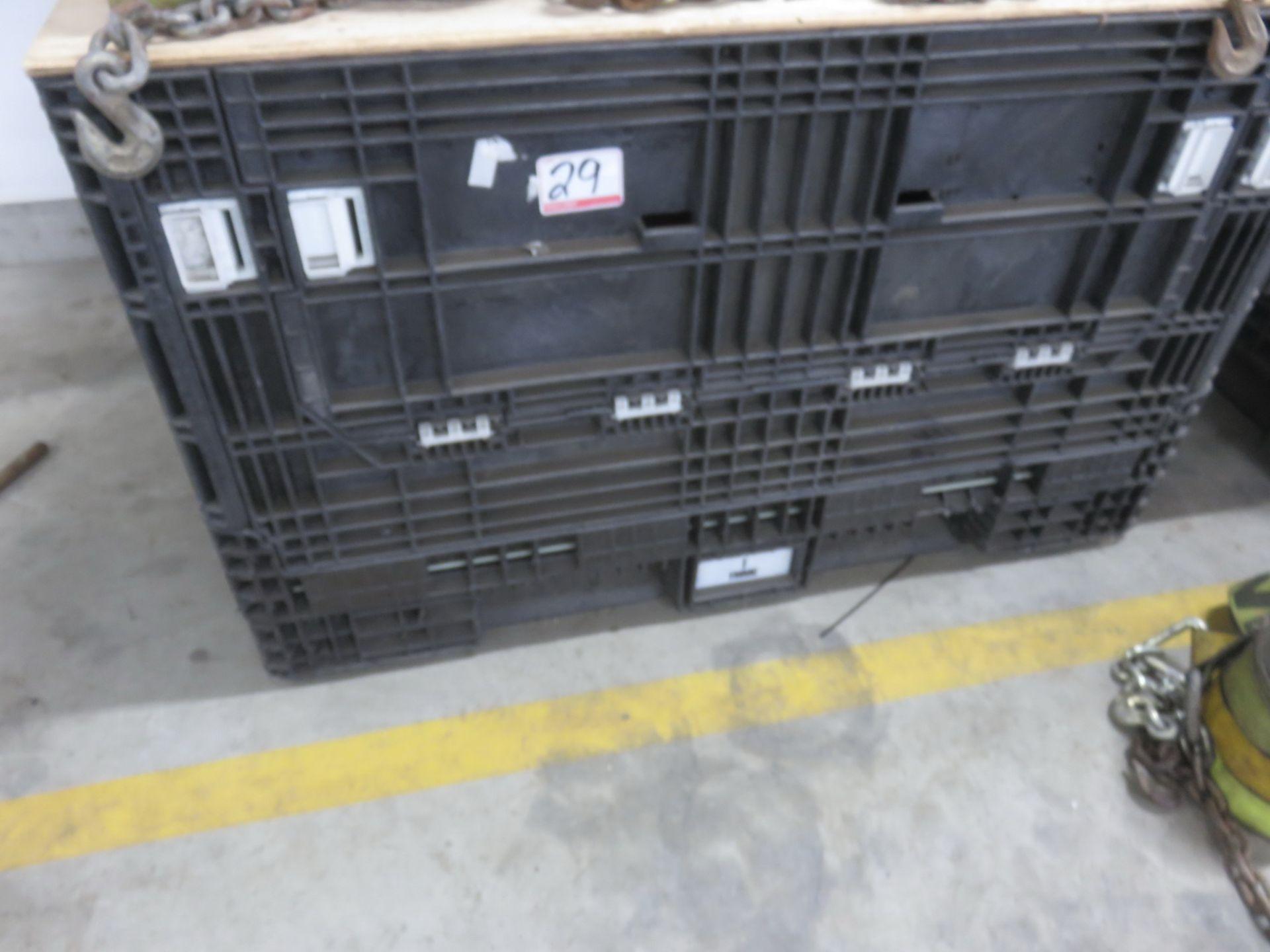 LOT - BLACK + GREY ASSTD PLASTIC BINS - Image 2 of 3
