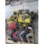 LOT - PLASTIC PROTECTIVE CORNERS + ACCESSORIES